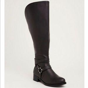 Torrid Black Over the Knee Harness Boot
